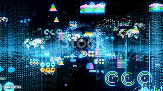 istock City and statistics concept. Computer graphics. 1140691250