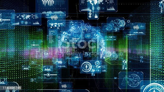 istock City and technology. Computer graphics. 1140691245