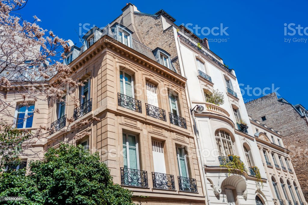 City Apartments in Paris, France stock photo