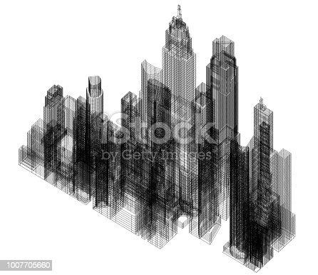City Architect Blueprint - isolated