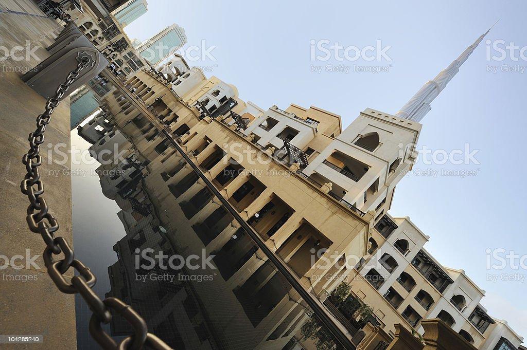 city around burj dubai royalty-free stock photo