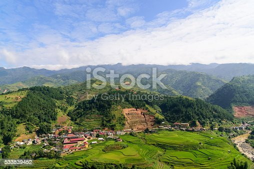 istock city arounded by rice terrace 533839452