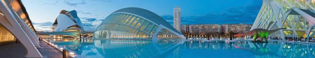 City Arts Sciences futuristische Museen Konzertsäle Panorama Valencia Spanien – Foto