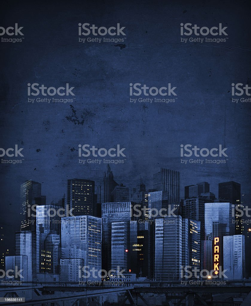 City at night collage royalty-free stock photo