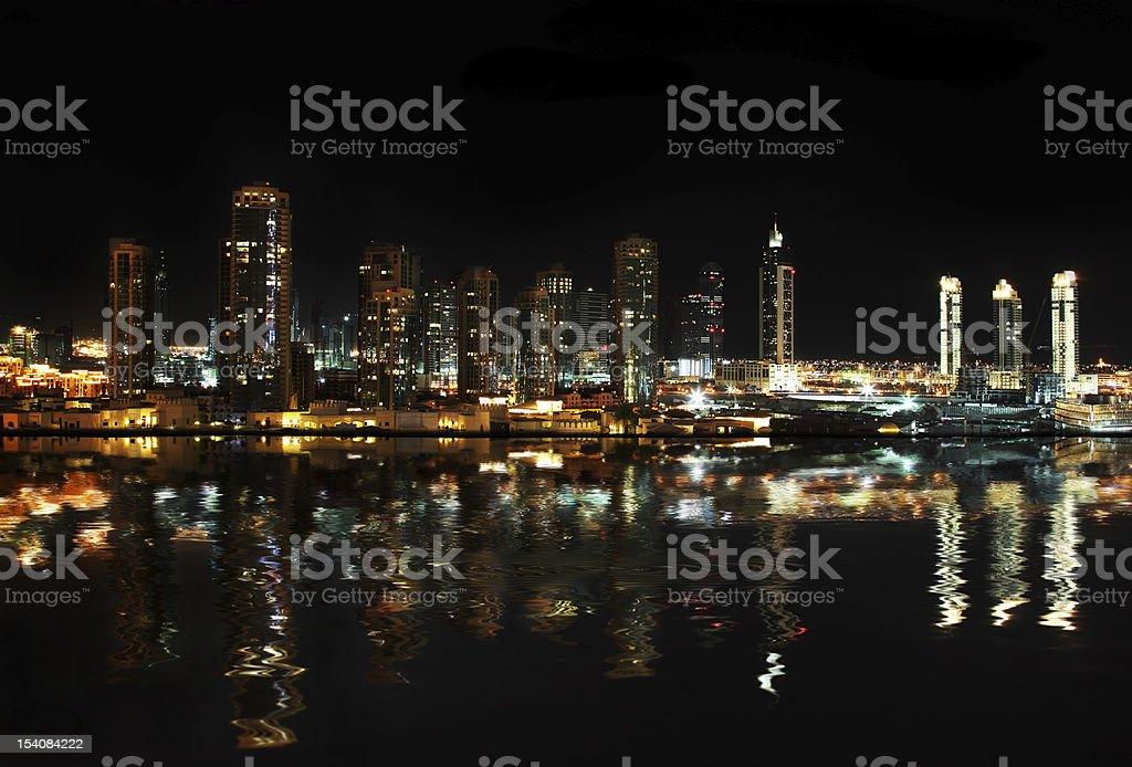 City at night royalty-free stock photo