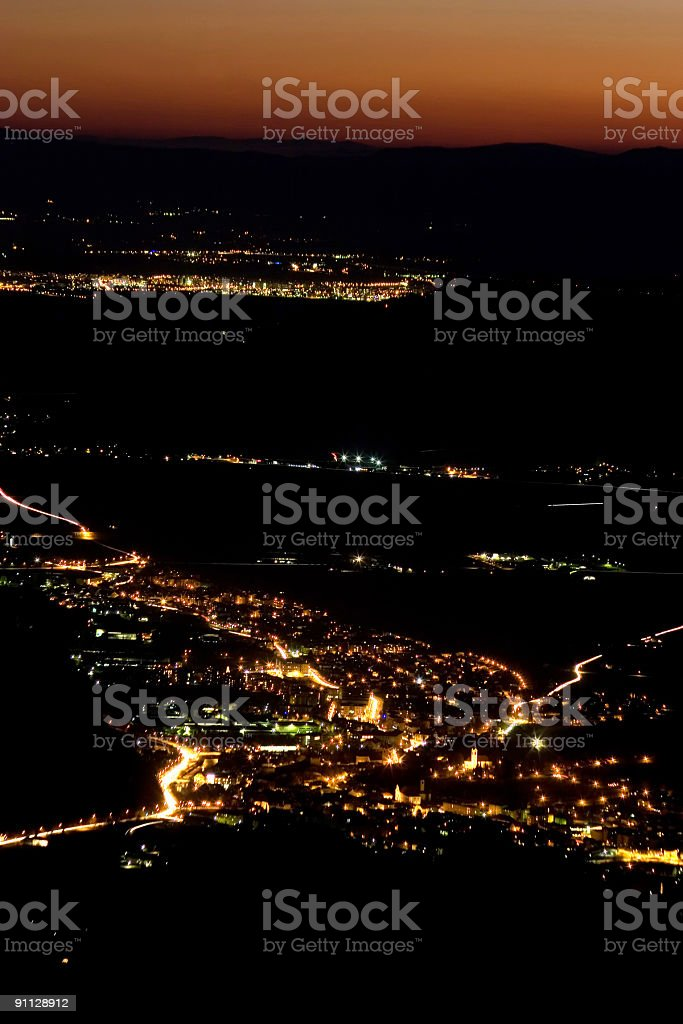City at night royalty-free stock photo