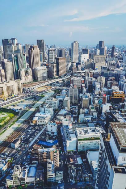 Stadt in Osaka in Japan – Foto