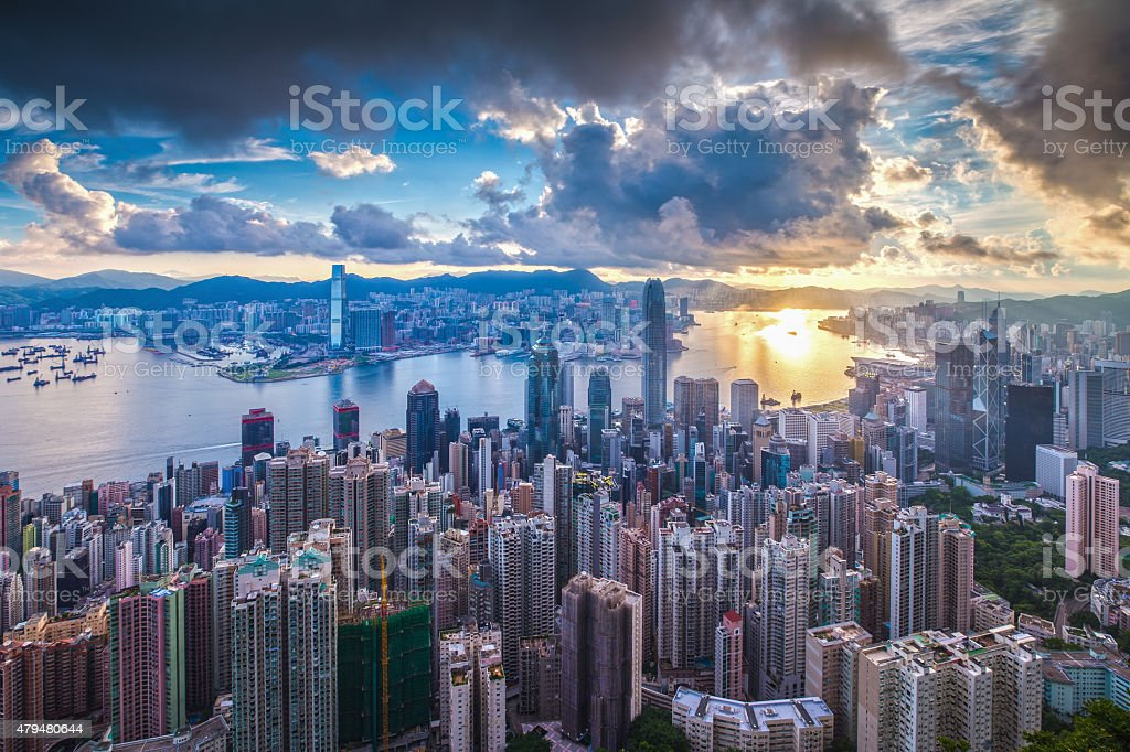 City at Sunrise royalty-free stock photo