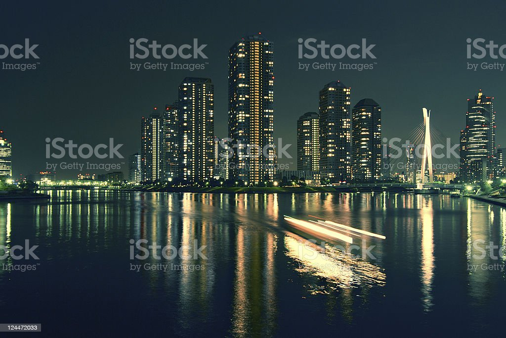 city at the sea royalty-free stock photo