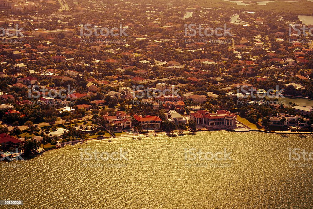 City at the waterfront royalty-free stock photo