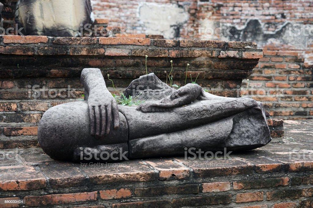 City Ayutthaya Thailand Temple Buddhism Buddha Travel Religion stock photo