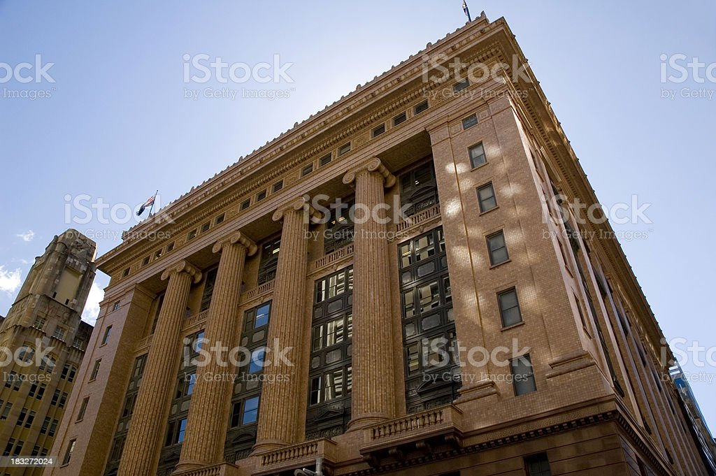 City bank stock photo