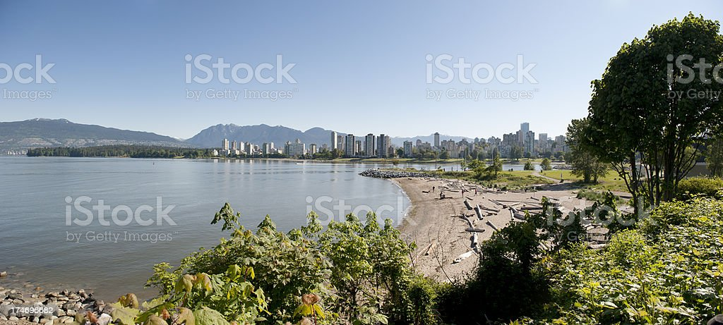 City Beach Panorama XXL stock photo
