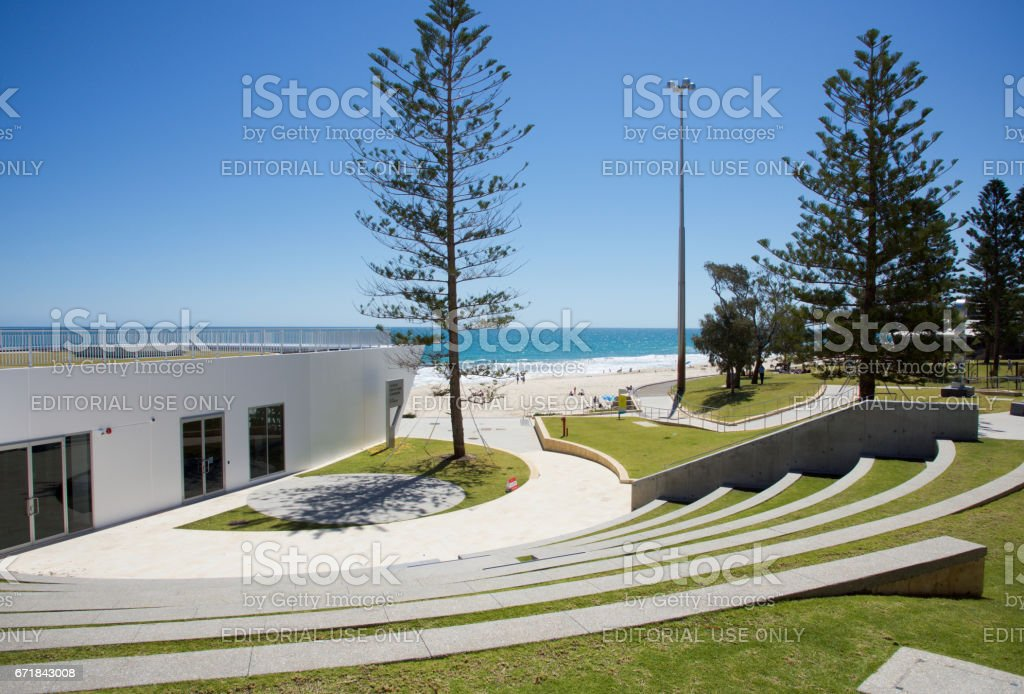 City Beach: Rear of Surf-life Saving Club stock photo