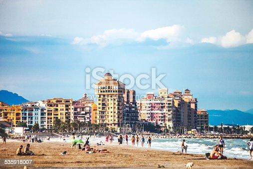 istock City beach. Valencia, Spain. 535918007
