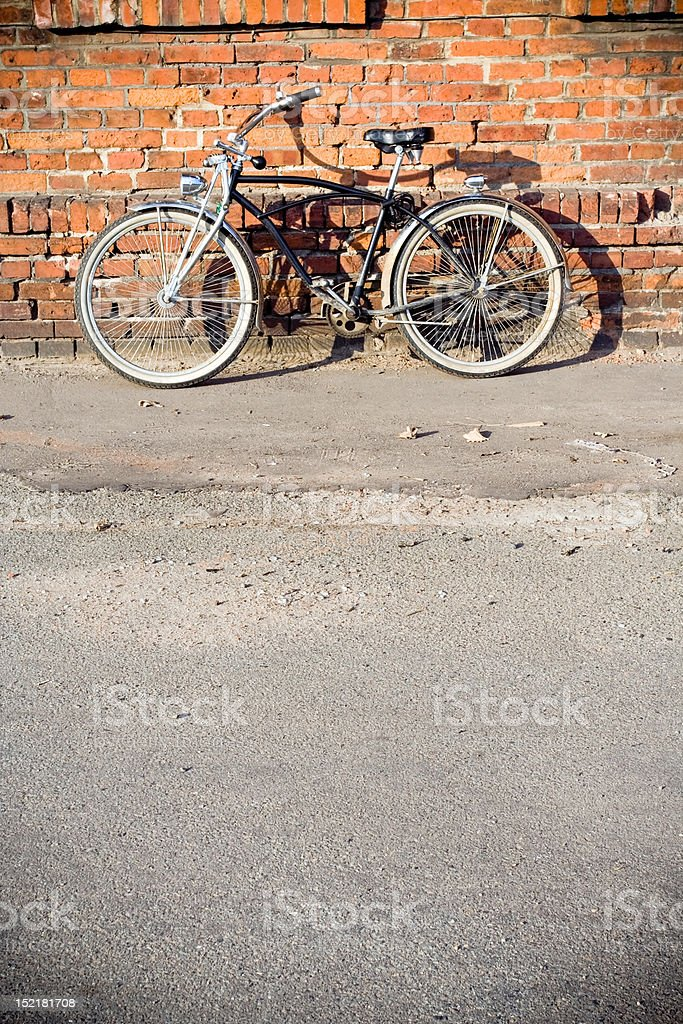 City bicycle stock photo