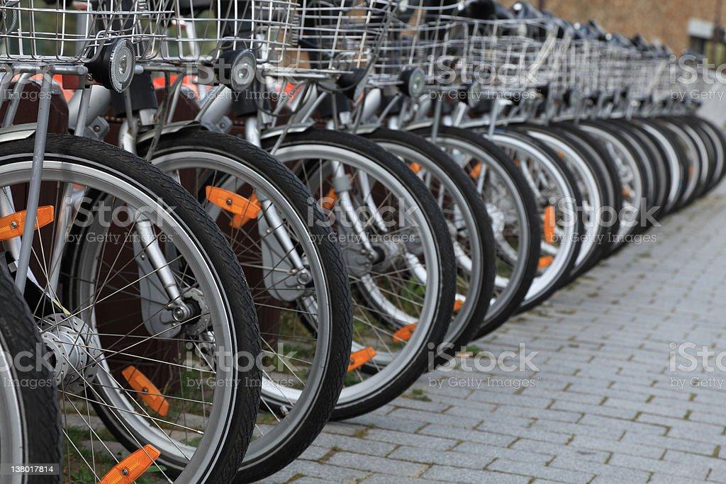 City bicycles stock photo