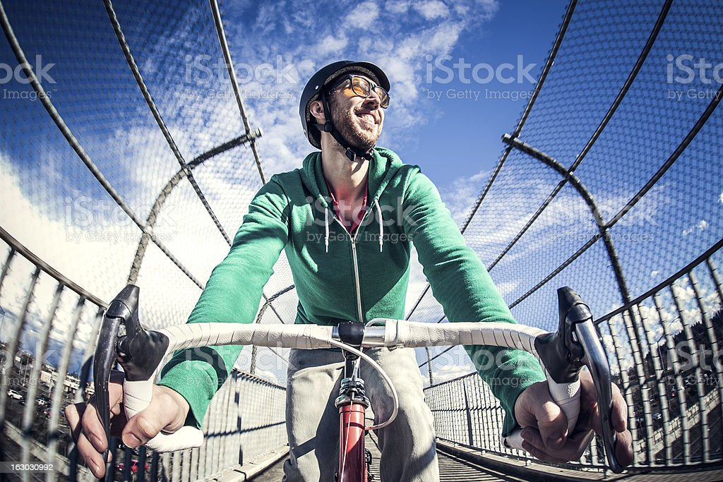 City Bike Commuter royalty-free stock photo