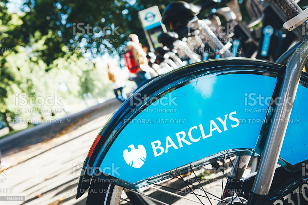 City Bikes In London stock photo