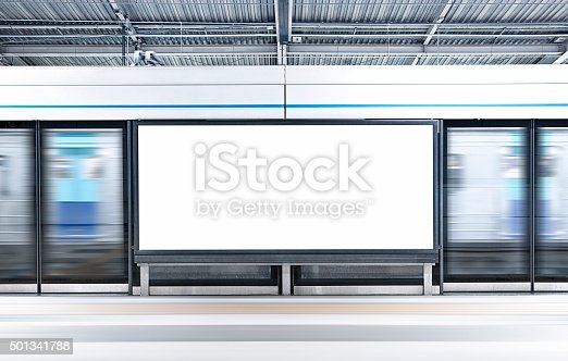 istock City Blank Billboard 501341788