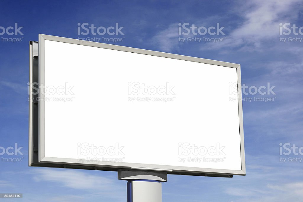 City blank billboard [with clipping paths] royalty-free stock photo
