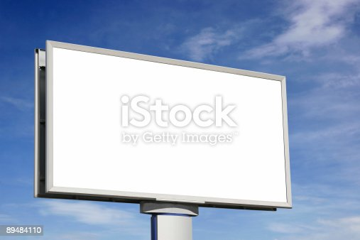 istock City blank billboard [with clipping paths] 89484110