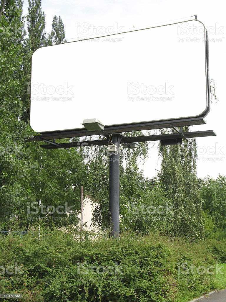 City blank billboard [with work path] royalty-free stock photo