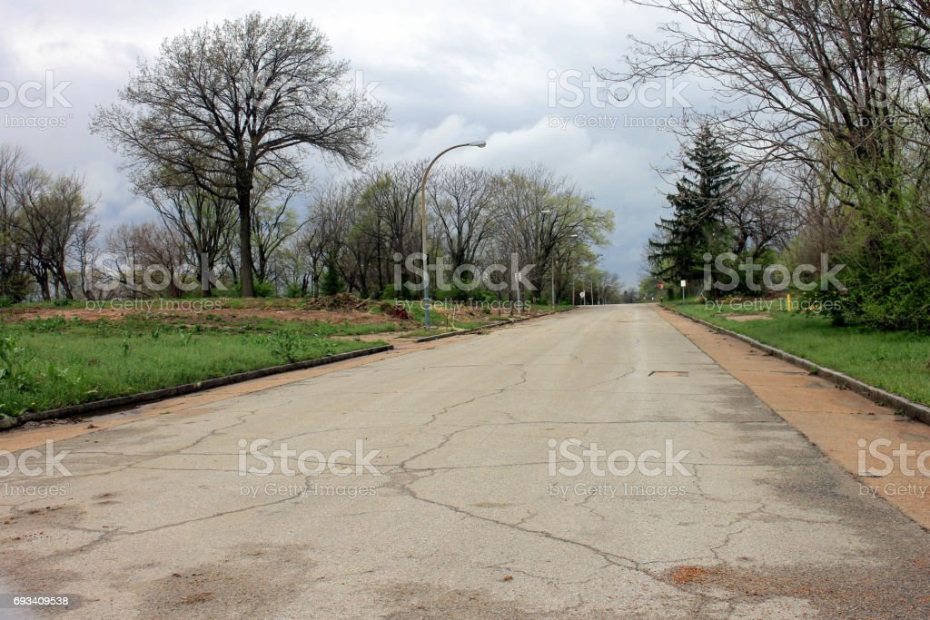 City Blighted Street stock photo