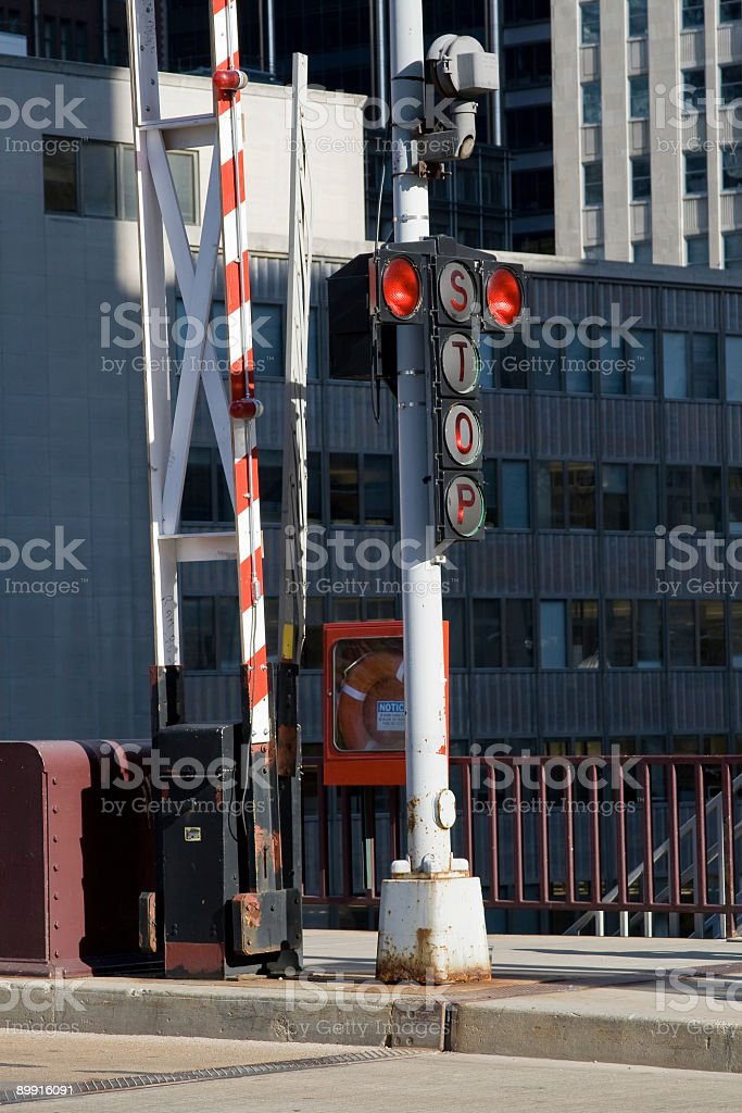 City bridge stoplight royalty-free stock photo