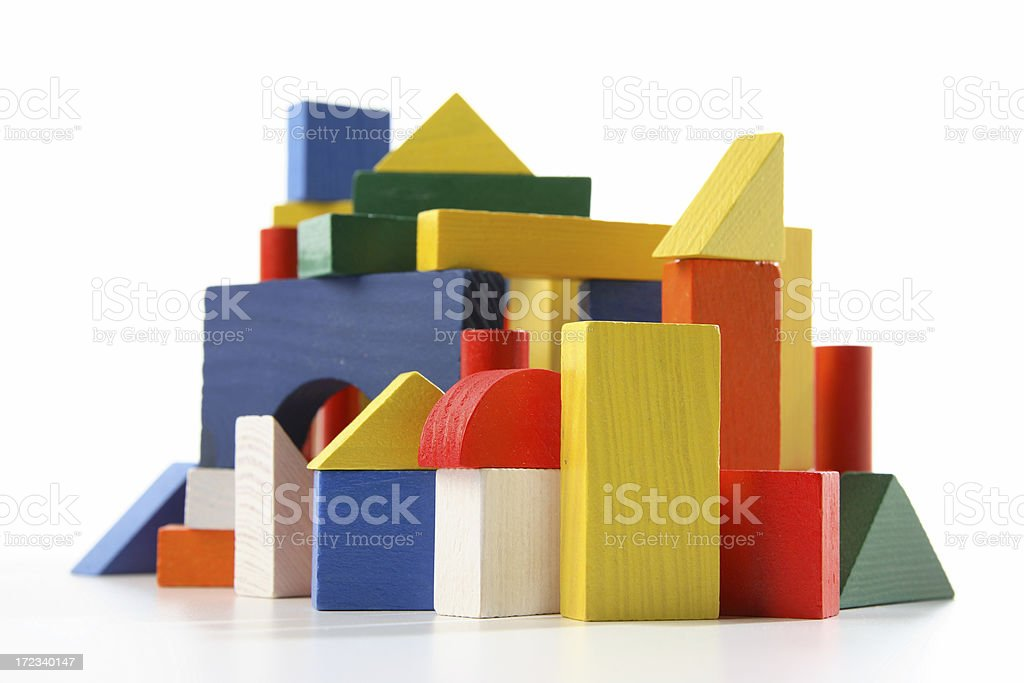 City Building Blocks stock photo