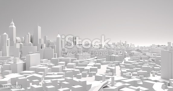illustration of a view of a city architecture