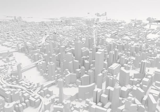 都市建物の 3 d 図 - illustrations or vector ストックフォトと画像