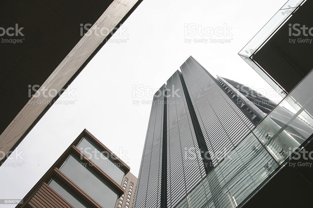 City buildings perspective royalty-free stock photo