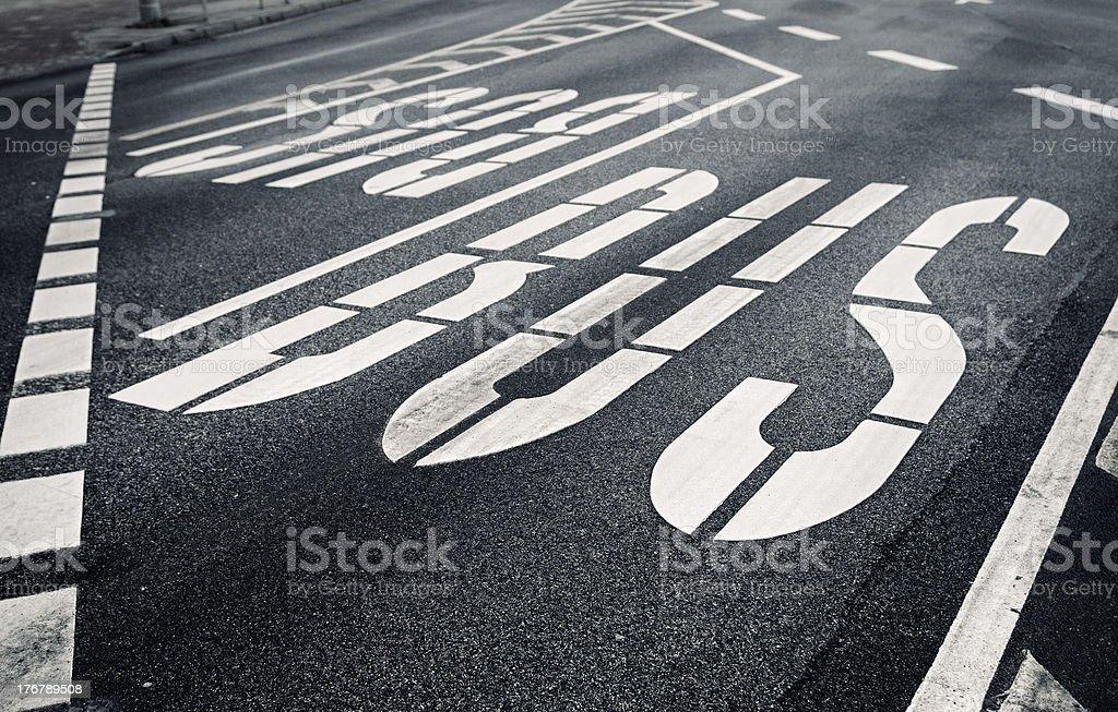 City bulevard with traffic designation royalty-free stock photo
