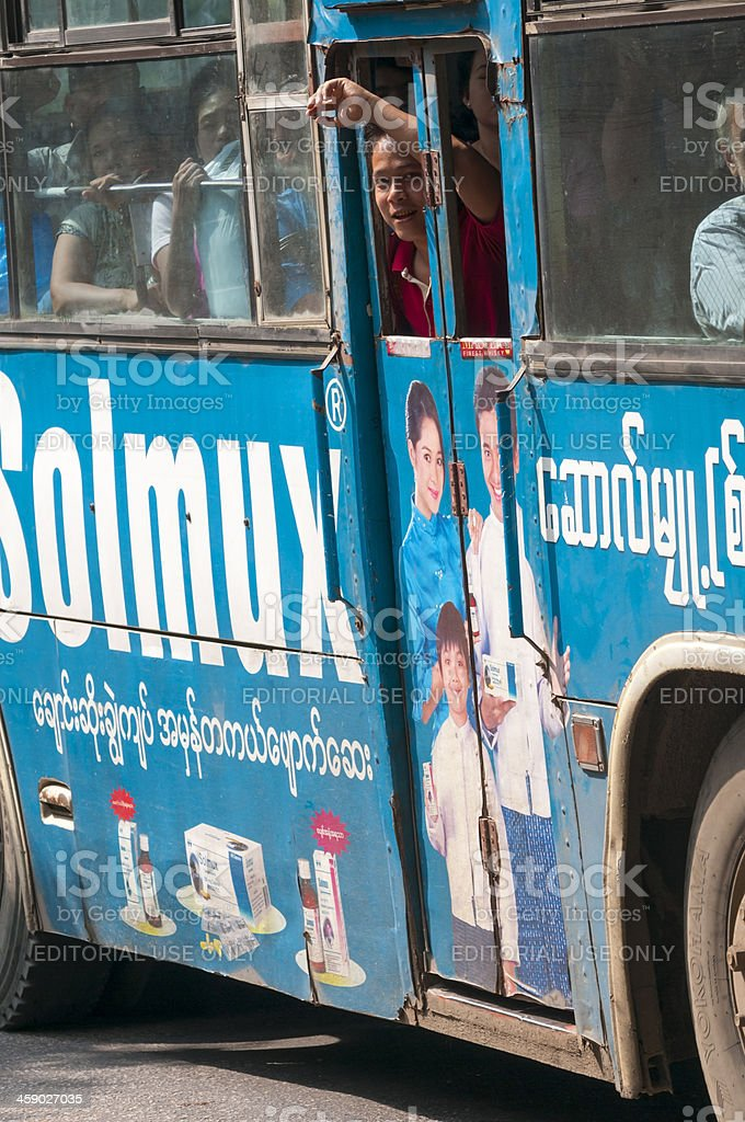 City bus in Yangon royalty-free stock photo