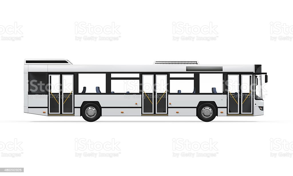 City Bus Isolated stock photo