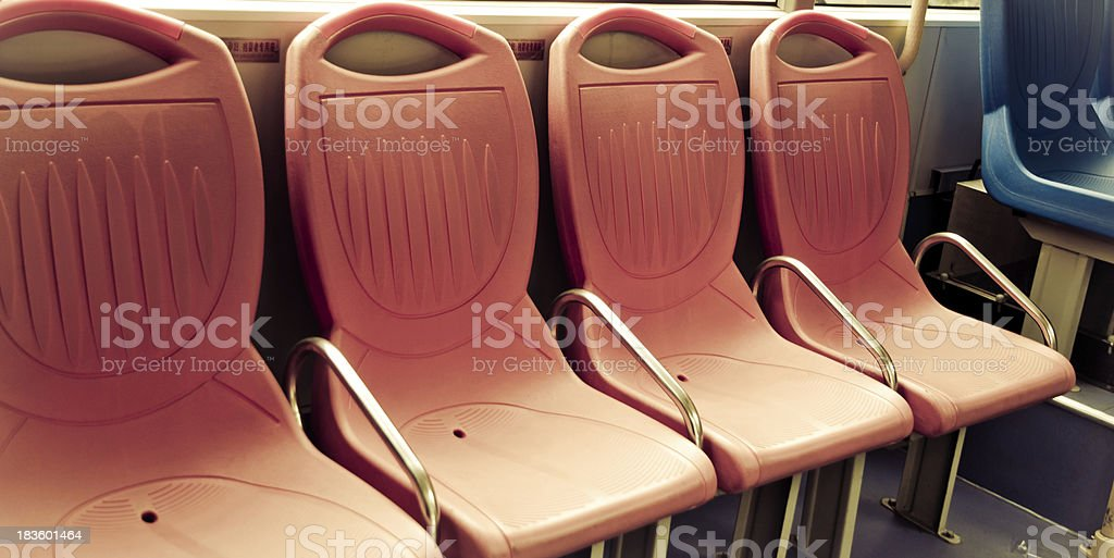 city bus seat royalty-free stock photo