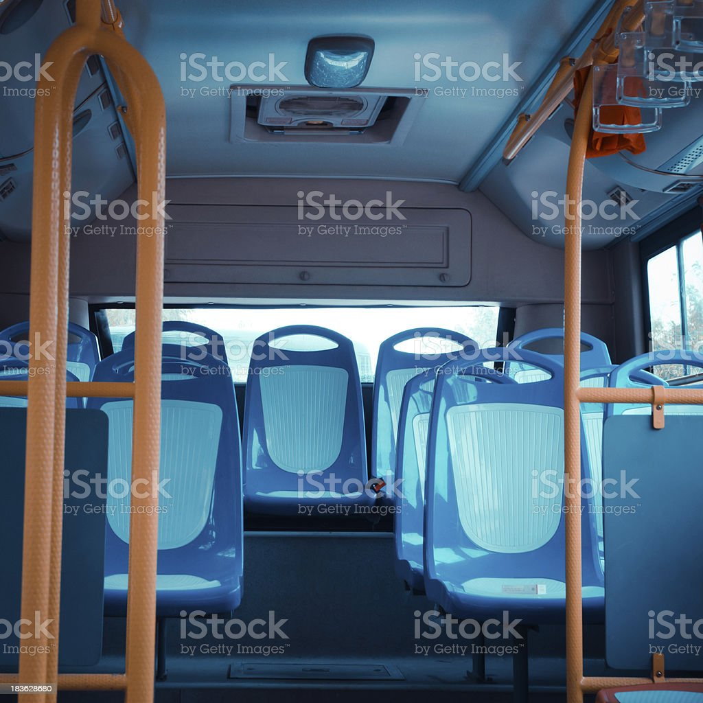 city bus seat stock photo