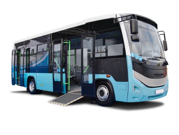 City Bus With Weelchair Platform