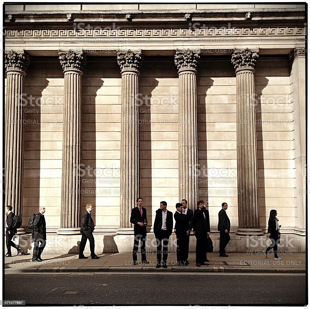 City business men royalty-free stock photo