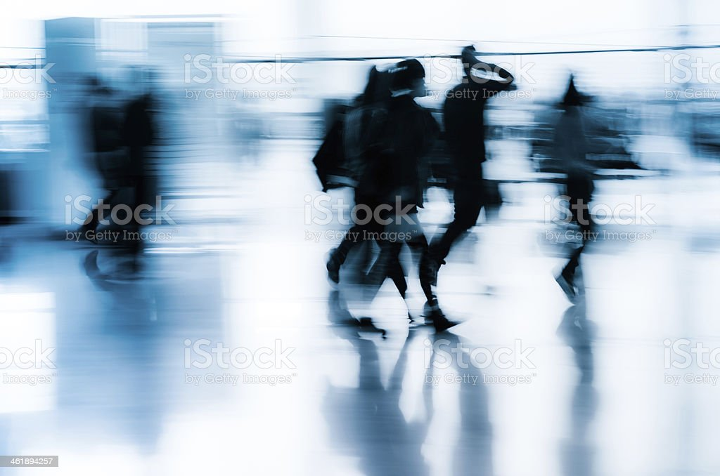 city business people abstract background stock photo