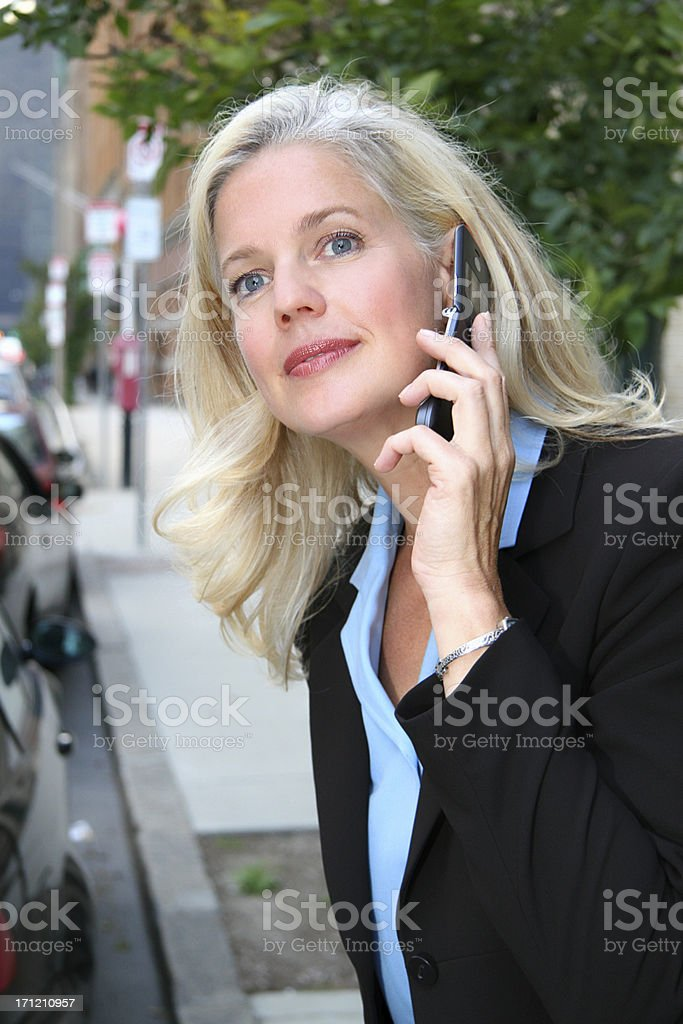 City Business Woman Cell phone royalty-free stock photo