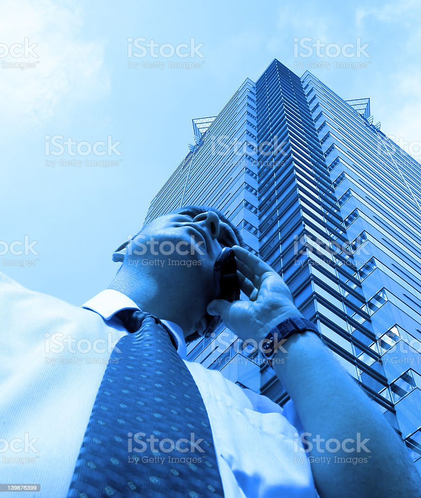 City business-blue royalty-free stock photo