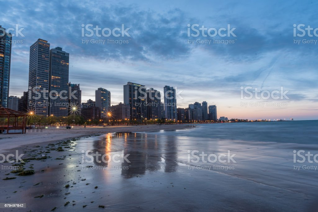 City by the Beach stock photo