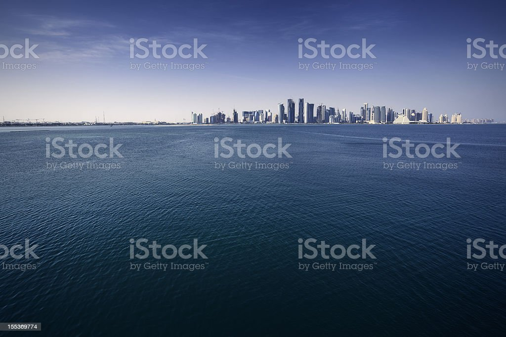 City by the sea royalty-free stock photo