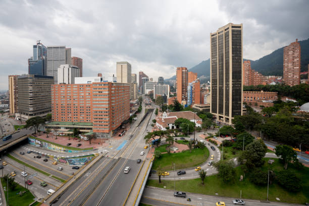 City center of Bogota - Colombia stock photo