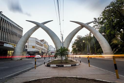 City center of Mombasa, Kenya, East Africa