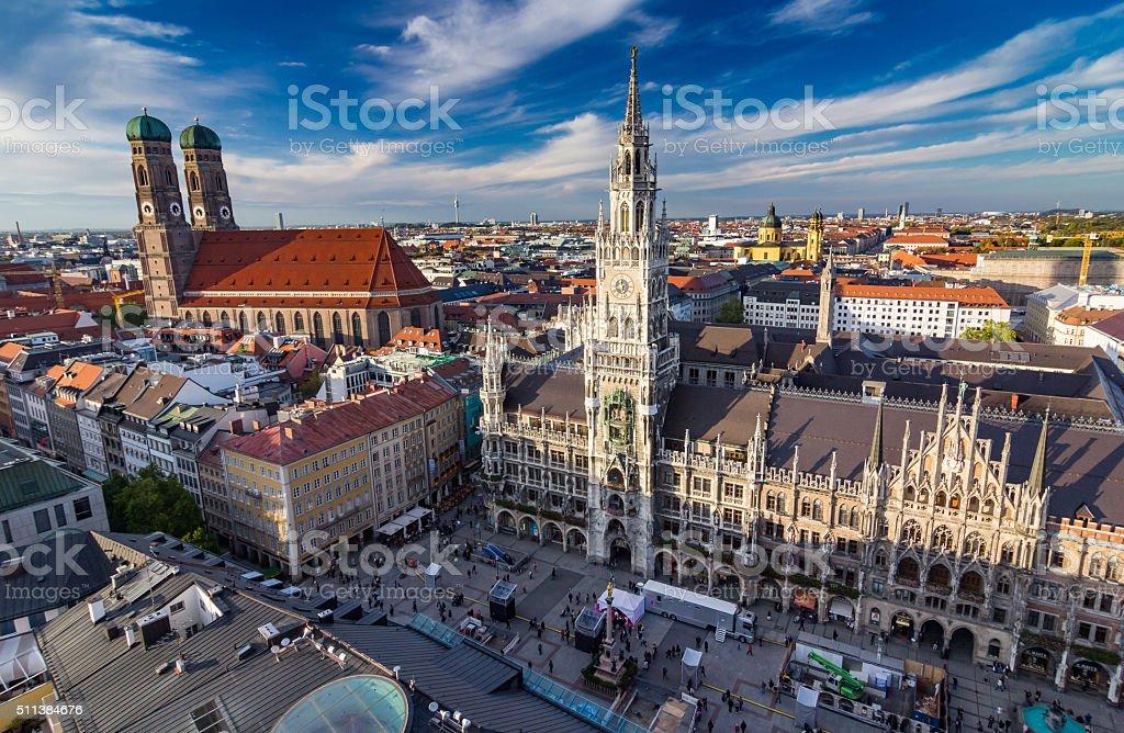 city center of  Munich, Germany stock photo