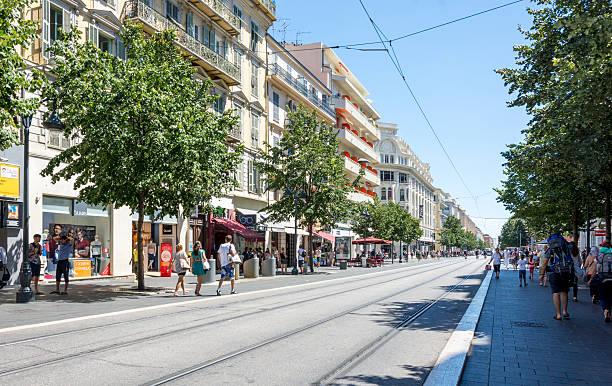 City Center of Nice, France stock photo