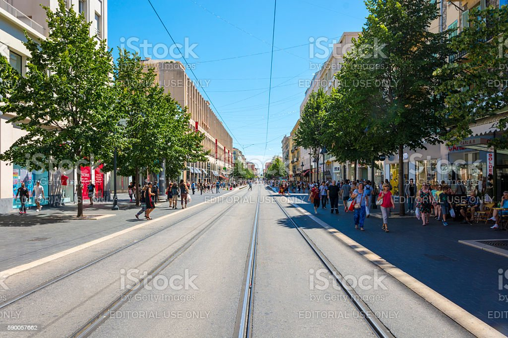 City Center of Nice, France stock photo